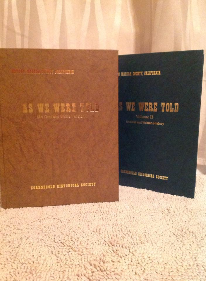 """Cover photo of two volumes of """"As We Were Told"""""""