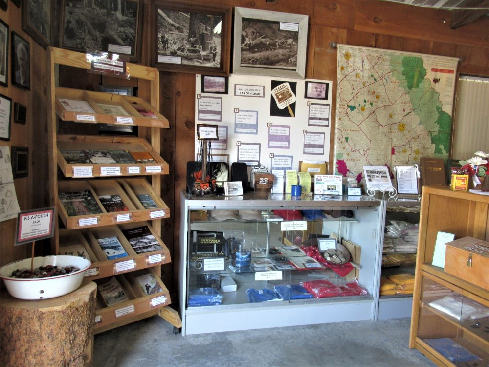 The Museum Gift Shop displays books, gifts and souvenirs